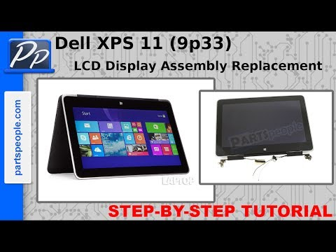 , title : 'Dell XPS 11 (9p33) LCD Display Assembly Video Tutorial Teardown'