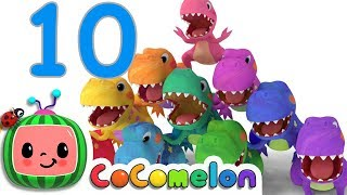 Video Dinosaurs T-Rex Number Song | CoCoMelon Nursery Rhymes & Kids Songs MP3, 3GP, MP4, WEBM, AVI, FLV April 2019
