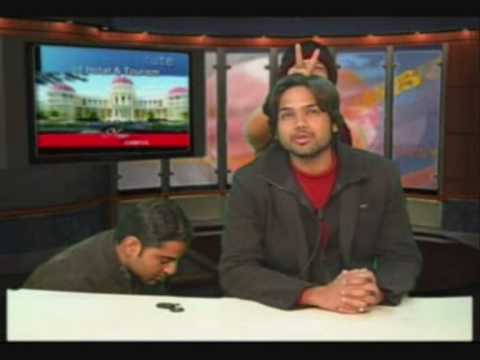 News Blooper - How news hosts fun after giving a perfect shot...