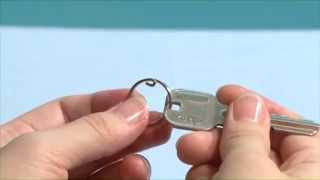 Unique Double Binding Rings Key Holder Easy To Insert 6P DLI-176 Made in Japan youtube video
