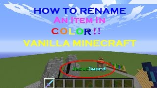 image of [PROBABLY OUTDATED] Minecraft Tutorial: How to Rename an Item in Color!
