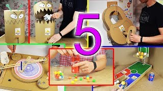 Video 5 Amazing Things You Can Do at Home from Cardboard MP3, 3GP, MP4, WEBM, AVI, FLV September 2018