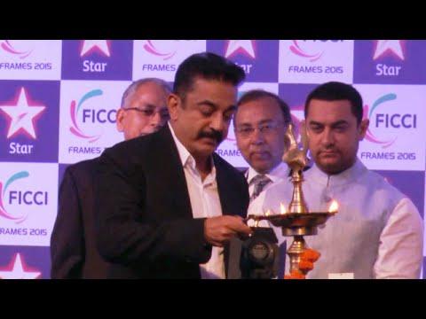 Aamir Khan, Kamal Haasan At Curtain Raiser Of FICCI Frame