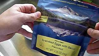 Mountain House Freeze Dried Food Tasting - Bacon & Eggs