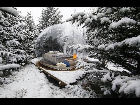 Iceland's Bubble Hotel Will Give You Serious Travel Goals (видео)