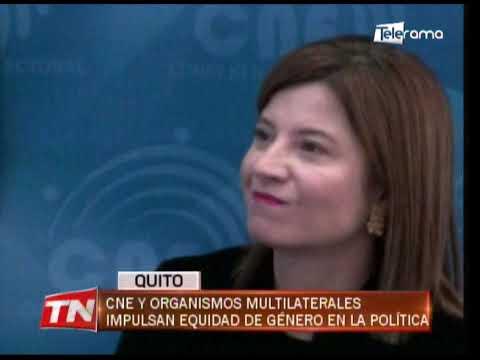 CNE y organizaciones multilaterales impulsan equidad de género en la política