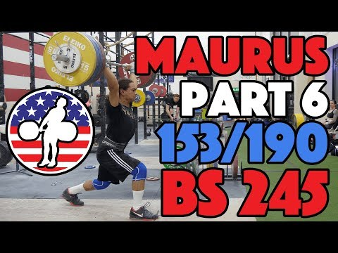 Harrison Maurus Part 6/11 Pre 2017 WWC Training 153/190 + 245x2 BS [4k60]