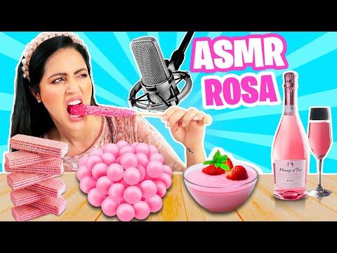 AY MIS DIENTES!!! 😬 ASMR TODO ROSA Y TODO DULCE 😱 PINK FOOD ASMR 🍬 Sandra Cires Art