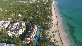 Flight around the Grand Palladium in Punta Cana during the morning hours.