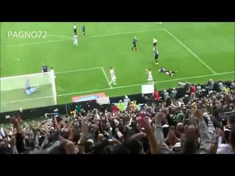 lo stupendo gol di mandzukic contro l'atalanta visto dalla curva