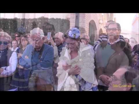 Salida de María Auxiliadora de Pozo del Camino al recinto romero acompañada por la Virgen de las Angustias