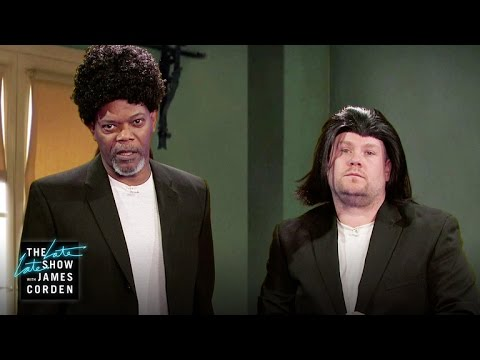 Samuel L Jackson Acts Out His Film Career w James