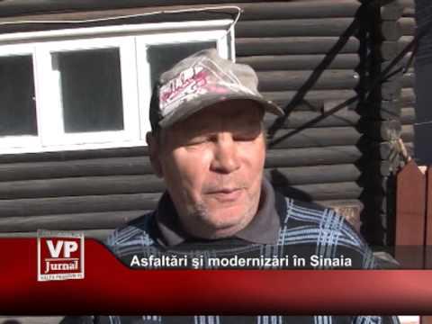 Asfaltări şi modernizări în Sinaia