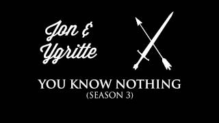 The Jon & Ygritte theme that often plays in the soundtrack when they're on screen, or when a plot-point involving them is taking place.Check out the playlist for more themes, including an awesome hour-long compilation of all of them! Just press play, sit back & enjoy.Music composed by: Ramin DjawadiFont: Wisdom Script by James T. Edmondson