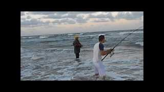Pescaria De Quatro Xaréus Na Praia De Santa Rita RN 01/10/2013