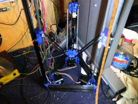 test run with 3d printer powered by a udoo