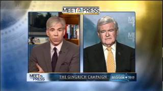 Newt Gingrich is Interviewed on Meet The Press | Superbowl Sunday | Day after Nevada Caucus | HQ