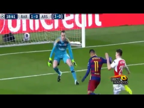 Liga Champion, FC Barcelona Vs Arsenal 3   1 All Goals Highlights 2016 03 17