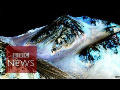 Mars satellite hints at liquid water - BBC News