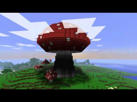 how to make a mushroom tree on minecraft
