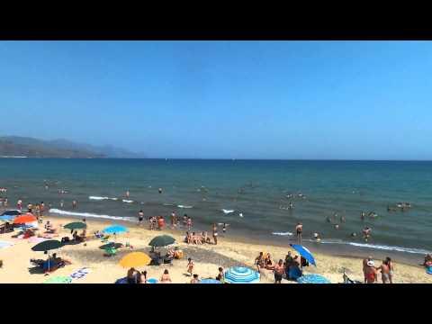 riprese aeree drone sicilia: spiaggia di castellammare del golfo