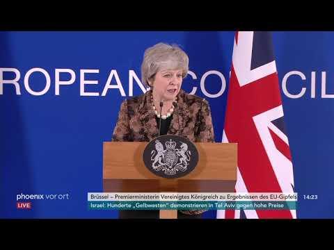 EU-Gipfel: Pressekonferenz der britischen Premiermini ...
