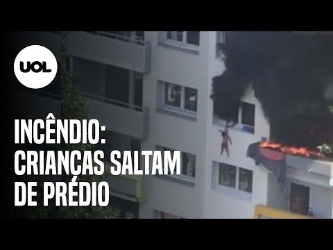 CRIANÇAS SALTAM DE PRÉDIO PARA ESCAPAR DE INCÊNDIO NA FRANÇA