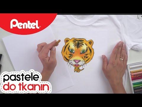 Tygrys - Pastele do tkanin | Pentel