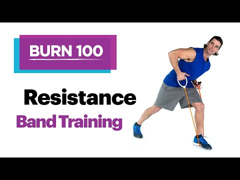 Resistance Band Training–Quick & Easy At-Home Workout Routine–SELF's Burn 100 Calories