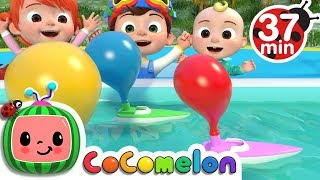 Video Balloon Boat Race | +More Nursery Rhymes & Kids Songs - Cocomelon (ABCkidTV) MP3, 3GP, MP4, WEBM, AVI, FLV Oktober 2018