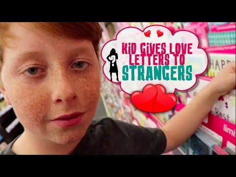 KID GIVES LOVE LETTERS TO STRANGERS!! | VALENTINE'S DAY PRANK