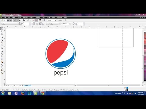 How To Make Pepsi Logo In Corel Draw