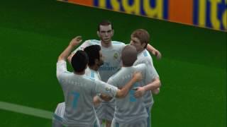 PES 2018 (PS2) August Update - Excellent Goal Gareth Bale - Barcelona vs Real Madrid - Supercopa de España.