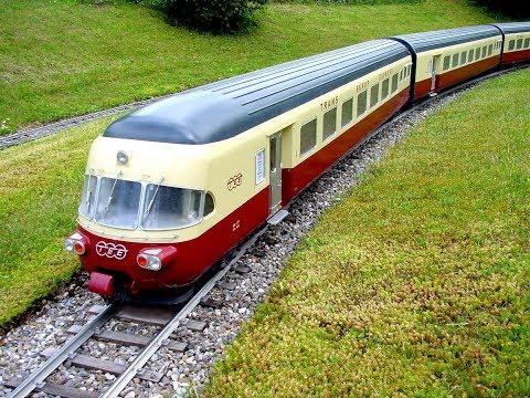 SBB RAe TEE II als Modell im Massstab 1:11 unterwegs in Glattfelden
