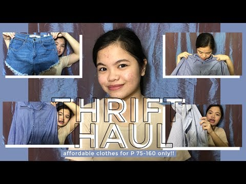 Video THRIFT HAUL (AFFORDABLE CLOTHES FOR ONLY 75-160 PESOS!!) download in MP3, 3GP, MP4, WEBM, AVI, FLV January 2017