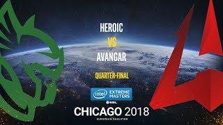 Heroic vs AVANGAR - IEM Chicago 2018 EU Quals - map1 - de_dust2 [GodMint]