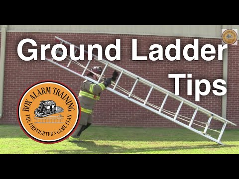 ladder - This video goes over several tips and techniques for using ground ladders.