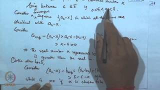 Mod-05 Lec-07 Equivalence Of Dedekind And Cantor's Theory