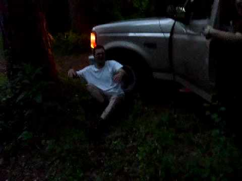 fuckin off in the woods