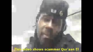 This video shows scammer Qur'aan El Bey AKA HRH Prince Michael Sheffield AKA The World's Dumbest Scammer