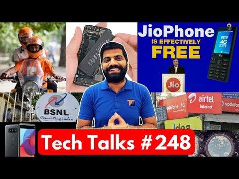 Tech Talks #248 - JioPhone, AirTel Loss, Facebook Phone, Nokia 2, BSNL 4G, LG Q8