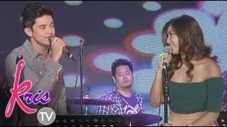 Video Kris TV: James Reid & Nadine Lustre sing 'Lucky' on Kris TV MP3, 3GP, MP4, WEBM, AVI, FLV September 2019