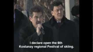 """NewsLink: http://tengrinews.kz/video/639/ The organizers of the regional ski festival in Kostanay played Ricky Martin's song """"Livin'..."""