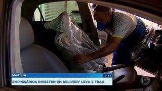 Marília: empresários investem em delivery e leva e traz