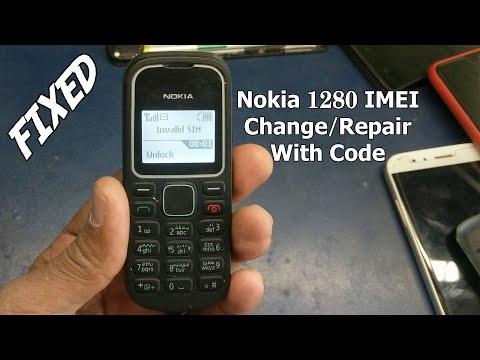 Nokia 1280 imei change code repair imei to fix Invalid Sim
