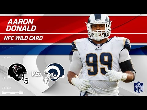 Video: Aaron Donald's 10 Hurries in 1st Half Alone! | Falcons vs. Rams | Wild Card Player HLs
