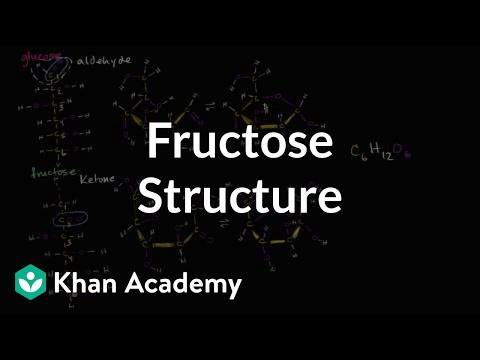 molecular structure of fructose video khan academy