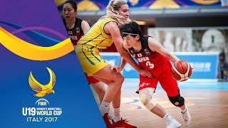 Watch Australia v Japan at the FIBA U19 Women's Basketball World Cup 2017. ►► Subscribe: http://fiba.com/subYT Click here for more: http://U19WorldCup.basket...