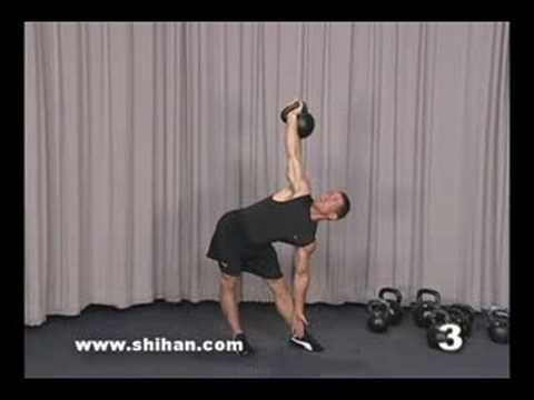Cotter - Steve Cotter demonstrates how to perform the High Windmill kettlebell technique, 1 of over 220 available on the full Encyclopedia Of Kettlebell Lifting, Seri...