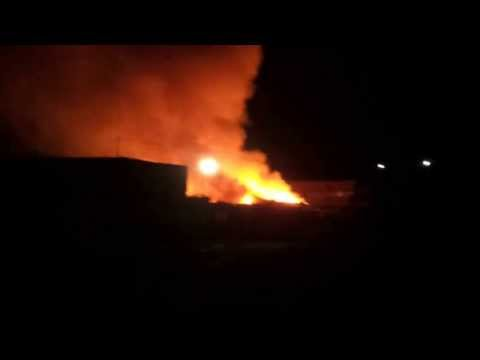 Така горят 400 тона боклуци във Враца